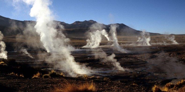 tatio geysers in atacama desert